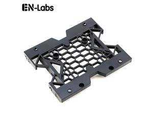 EnLabs  Internal Hard Disk Drive 2.5'' or 3.5'' to 5.25'' SSD HDD Mounting Bracket Bays Holder Adapter for PC,5.25-inch Tray for 2.5-inch or 3.5-inch and 12cm Fan Cooler Mounting