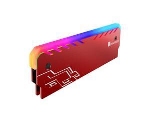 Jonsbo NC-1 RGB Light Glow Effect Aluminum Alloy Desktop Memory RAM Heatsink Heat Spreader Cooling Shell - Red
