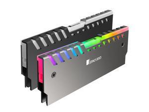 2 pack Jonsbo NC-2 Colour Light Glow Effect Aluminum Alloy Desktop Memory RAM Heatsink Heat Spreader Cooling Shell - Automatic Color Change