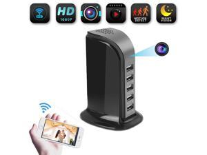 WIFI 1080P HD Wireless Hidden Camera Socket USB Charger Spy Cam Video Recorder