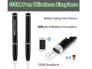 GSM Pen&Wireless Earpiece, GSM Quadband,Mini C919 Earpiece, Battery Talking Time 70min UHF Audio Listening Device With Earpeice