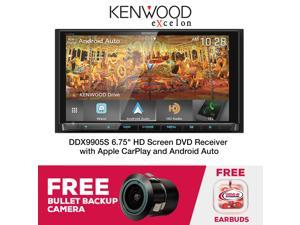 "Kenwood Excelon DDX9905S 6.75"" HD DVD Receiver with Apple CarPlay and Android Auto & Free Backup Bullet Camera!"