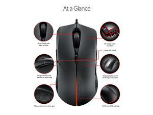 ASUS ROG Strix Evolve USB Optical 7200DPI Ambidextrous Black mice
