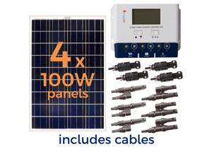 Solar Panel Kit,400W,5.56A,18VAC/DC GRAPE SOLAR GS-400-KIT