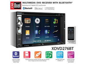 """Dual XDVD276BT 6.2"""" LCD Touch Screen Double Din Car Stereo"""