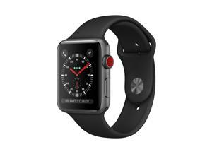 Apple Watch Series 3 (GPS + Cellular) 38mm Space Gray Aluminum Case with Black Sport Band - Space Gray Aluminum (AT&T)