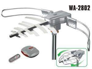 AbleSignal150MILES OUTDOOR TV ANTENNA MOTORIZED AMPLIFIED HDTV HIGH GAIN 36dB UHF VHF QUICK ASSEMBLY
