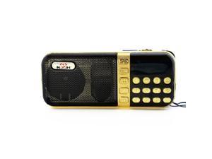 axGear Portable FM Radio USB MicroSD TF MP3 Music Player Speaker