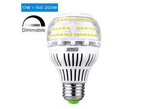 [UPGRADE] 17W (150-200 Watt Equivalent) A19 Dimmable LED Light Bulb, 2500 Lumens, 5000K Daylight Light, 270° Omni-directional Bright Led Bulbs, E26 Medium Screw Base, 5-year Warranty, SANSI