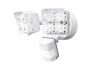SANSI LED Security Motion Sensor Outdoor Lights, 36W (250W Incandescent Equivalent) 3600lm, 5000K Daylight, Dusk to Dawn Waterproof Flood Light, ETL Listed, White