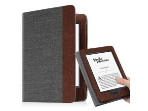 Fintie Folio Case for Amazon Kindle Paperwhite Generations Prior to 2018 - Not for All-new Paperwhite 2018, Charcoal