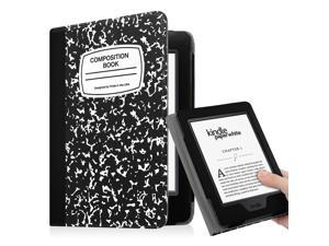 Fintie Folio Case for Amazon Kindle Paperwhite Generations Prior to 2018 - Not for All-new Paperwhite 2018, Book Black