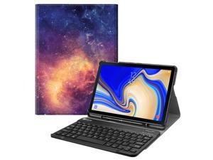 Fintie Bluetooth Keyboard Case for Samsung Galaxy Tab S4 10.5 2018 Model SM-T830/T835/T837, Slim Stand Cover Galaxy