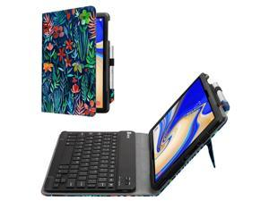 Bluetooth Keyboard Case for Samsung Galaxy Tab S4 10.5 2018 Model SM-T830/T835/T837 Leather Stand Cover Jungle Night