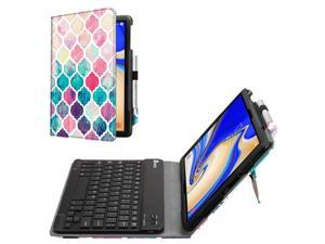 Bluetooth Keyboard Case for Samsung Galaxy Tab S4 10.5 2018 Model SM-T830/T835/T837 Leather Stand Cover Moroccan Love