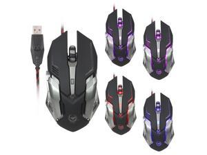 Wanmingtek Crazy Scorpion Wired Gaming Mouse 6 Buttons 4 Colors Light 3200 Adjustable DPI Optical Gamer Mice Custom programmable Computer mouse Perfect For LOL Gamer Laptop Gamer Macbook