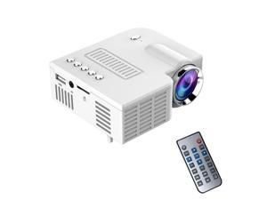 Wanmingtek Portable Mini Hd LED Projector Cinema Theater,Support PC Laptop HDMI VGA Input and SD + USB + AV Input,for iphone,galaxy,laptop,mac.with Remote Control,white