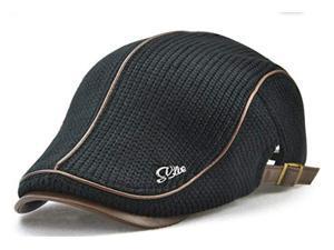 Wanmingtek Knitted Woollen Beret Hat Cotton Newsboy Peak ... 08a23d16043f