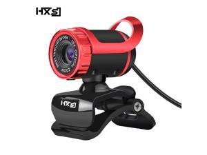 HXSJ USB Webcam 480P HD Video with Microphone Web Cam USB Plug and Play, Recording for PC Computer Laptop for Mac Windows XP / 7/8 / 10 and Android TV -Red