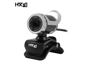 HXSJ USB Webcam 480P HD Video with Microphone Web Cam USB Plug and Play, Recording for PC Computer Laptop for Mac Windows XP / 7/8 / 10 and Android TV -Black