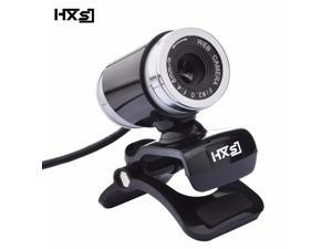 HXSJ A860 USB2.0 480P HD Webcam Camera Web Cam with miniphone MIC for Android TV Rotatable Computer Camera Web cam- (Black+Silver)