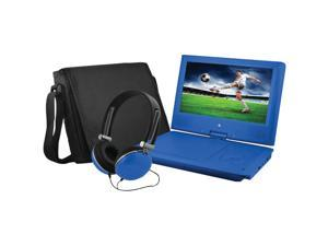 "Ematic EPD909BU Ematic EPD909 Portable DVD Player - 9"" Display - 640 x 234 - Blue - DVD-R, CD-R - JPEG - DVD Video, Video CD, MPEG-4 - CD-DA, MP3 - 1 x Headphone Port(s) - Lithium Polymer - 2"