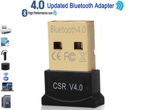 High Performance Bluetooth 4.0 Adapter, Wireless Bluetooth CSR 4.0 Dongle Adapter Compatible with Windows 10,8.1/8,7,Vista, XP, 32/64 Bit and Classic Bluetooth, Stereo Headset Compatible