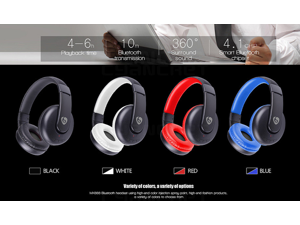 MX888 Bluetooth Wireless Headphones with Microphone Over Ear Stereo Headsets .