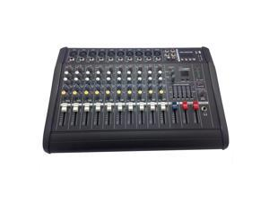 iMeshbean 2000 Watt 10 Channel Professional Powered Mixer Power Mixing Amplifier Amp 16DSP with USB Slot USA