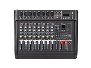 iMeshbean 2000 Watt 8 Channel Professional Powered Mixer power mixing Amplifier Amp 16DSP
