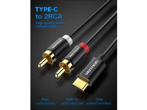 1M/3.3FT USB Type C to 2 RCA Audio Cable 2rca Jack USB-C Audio Line Type-C RCA cable for Xiaomi LG Home Theater Amplifier DVD TV