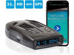 Whistler MFU440 Multi-Functional Radar Detector with Fully Integrated Dash Camera – High Performance – Wi-Fi Enabled – iOS and Android Dash Cam App – HD Playback – Supports Up to 32GB SD Card