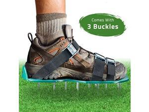Lawn Aerator Spike Shoes - For Effectively Aerating Lawn Soil - Comes with 3 Adj