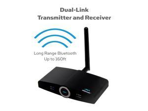 90M LONG RANGE Bluetooth Transmitter or Receiver for TV Stereo v4.2, Listen in HD with No Delay, Multiple Dual Link aptX Low Latency wireless Optical 3.5 RCA (Home RTX 2.0-2 Yr Wrnty)