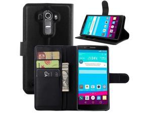 For LG G4 case cover , 2015 fashion luxury filp Lychee leather wallet stand ...