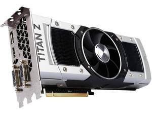 NVIDIA GeForce GTX TITAN Z DirectX 12 (feature level 11_0) 12GB 768-Bit GDDR5 PCI Express 3.0 SLI Support Video Card - OEM