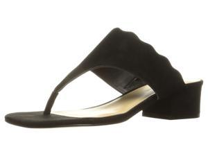 56a425082b88 Marc Fisher Womens Veva Leather Split Toe Casual Slide Sandals ...