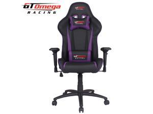 GT Omega PRO Racing Office Gaming Chair Black Next Purple Leather