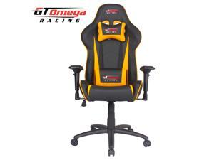 GT Omega PRO Racing Office Gaming Chair Black Next Yellow Leather