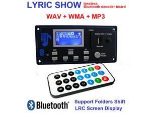 12V DIY Car Radio Bluetooth Audio Stereo Player LED Lyric Display Phone AUX-IN MP3 FM/USB/Radio Remote Control Card Reader Modul