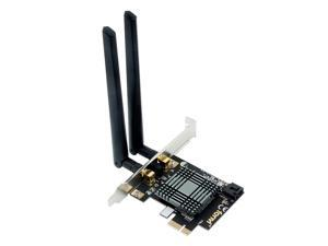 Fenvi FV-9260 Desktop Wireless PCI Express Wi-Fi Adapter, Up to 1730Mbps Data Rates, Dual Band 2.4G/5G, Bluetooth 5.0, IEEE 802.11ac, Only Support Windows 10, With Intel 9260 Wifi Card, 6dbi Antennas