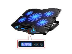 TopMate 12-15.6 inch Gaming Laptop Cooler Cooling pad, Five Quite Fans and LCD Screen, 2500RPM Strong Wind Speed Designed for Gamers and Office