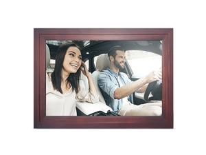 iDeaPLAY 13.3 inch Wide Screen WiFi Digital Photo Frame 8GB Nand Flash Wood Electronic Picture Album - Espresso