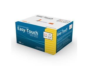 MHC EasyTouch Insulin Syringe 31G 1/2cc (.5mL) 8mm (5/16in) (100 Count)