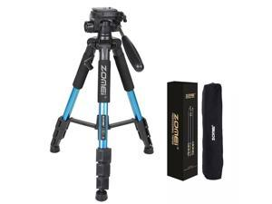 "Adjustable Height ZOMEI Q111 55"" Travel Tripod for Digital Camera or Camcorder"