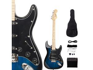 New ISIN Beginner Dark Blue Electric Guitar Kit with Amp & Accessories