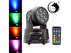 7 LED RGB DJ Club Disco Party 70W DMX512 Moving Head Light Stage Lighting Xmas