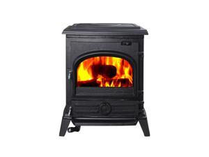 Hiflame Pony 73% efficiency 37000BTU/H small wood burning stoves wood fireplace with EPA certified HF517UPB
