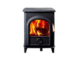 Hiflame Shetland HF905UPB 85% efficiency 21000BTU/H extra small wood burning stove wood fireplace with EPA approved