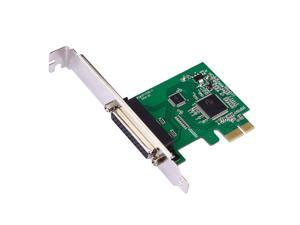 New Parallel Port DB25 LPT Printer to PCI-E Express Card Converter Adapter Win7